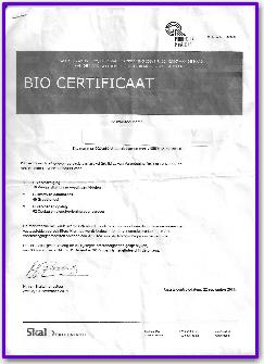 biocertificaat chris